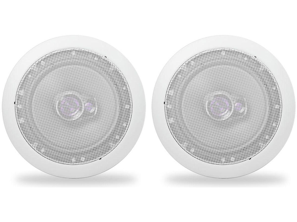 Par Arandela Redonda Com Alto Falante Pioneer 50w Som Ambiente Gesso Embutir Teto  - EvolutionStore - Peças e Acessórios Automotivos