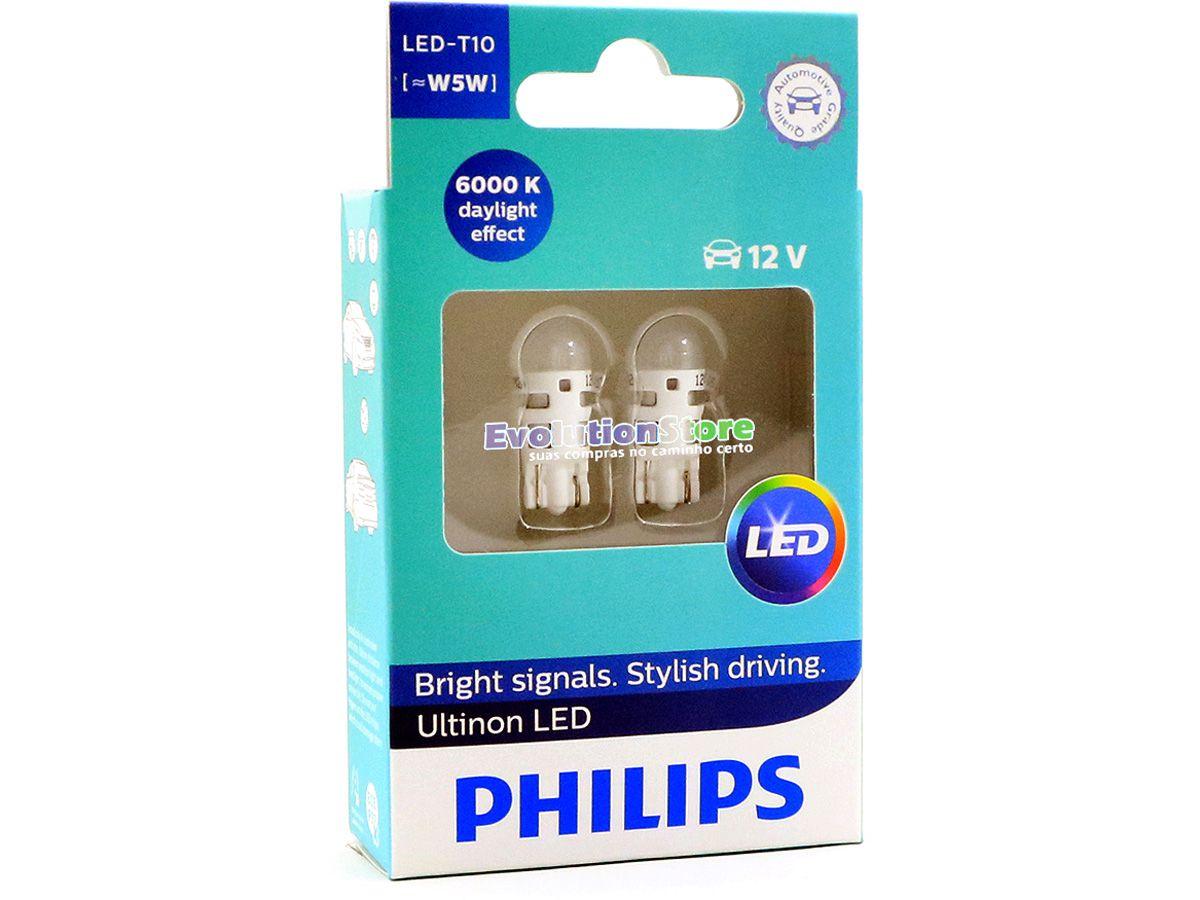 Par De Lâmpadas Pingo LED Vision Philips Lanterna 6000k Super Branca T10 12v  - EvolutionStore - Peças e Acessórios Automotivos