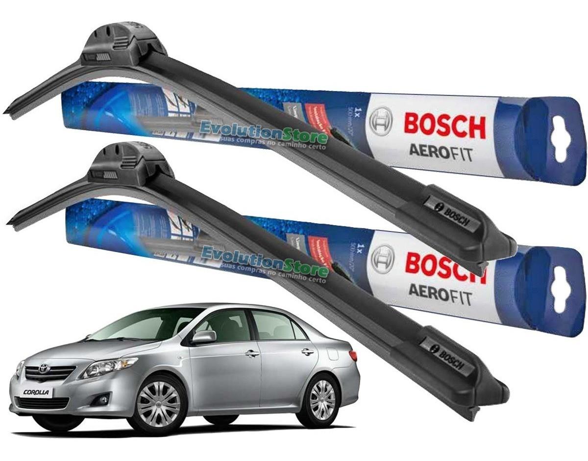 Par de Palheta Limpador Para-brisa Bosch Aerofit Corolla 2009 2010 2011 2012 2013 2014  - EvolutionStore - Peças e Acessórios Automotivos