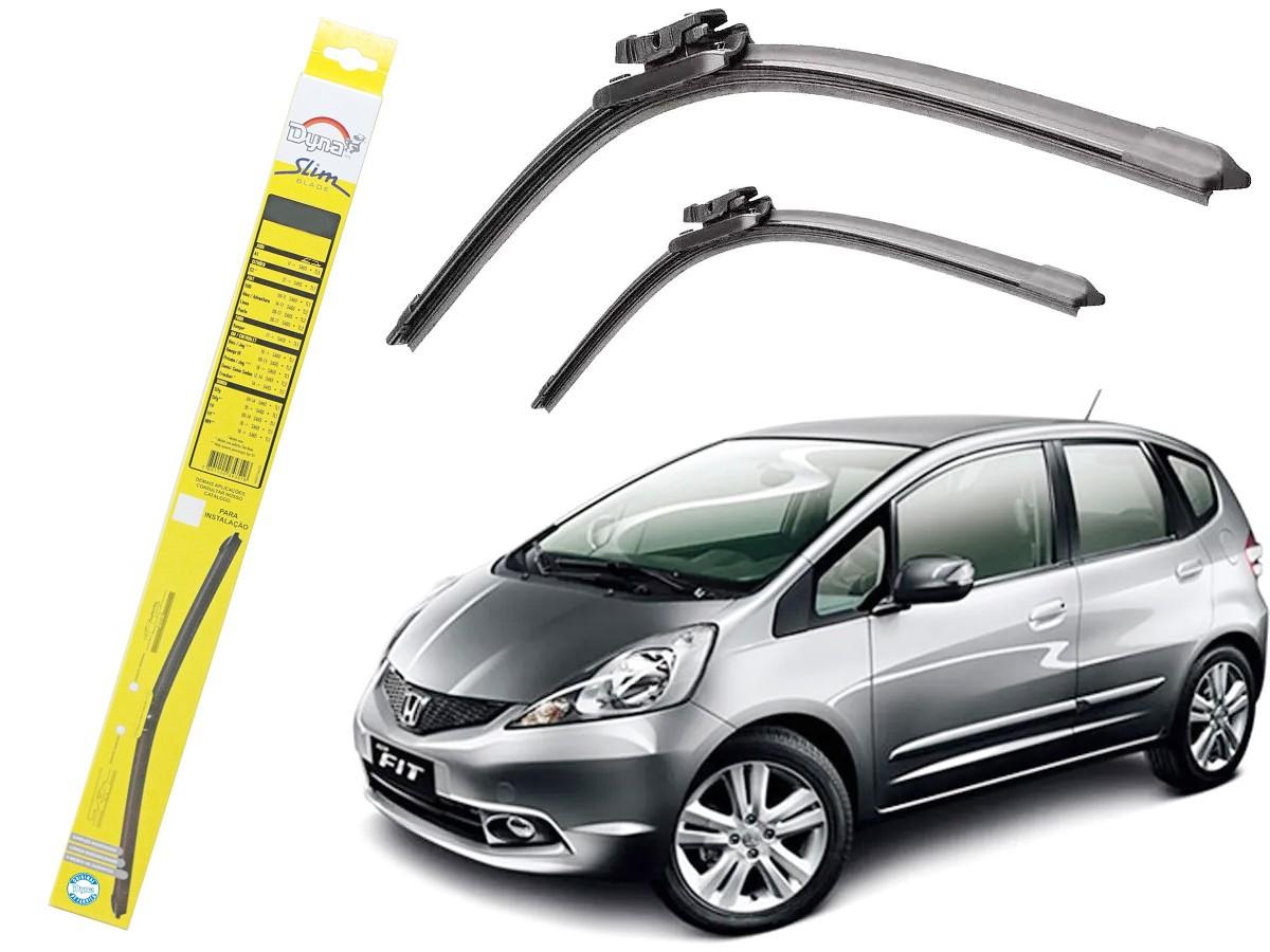 Par de Palheta Limpador Para-brisa Dyna Honda Fit 2009 2010 2011 2012 2013 2014  - EvolutionStore - Peças e Acessórios Automotivos
