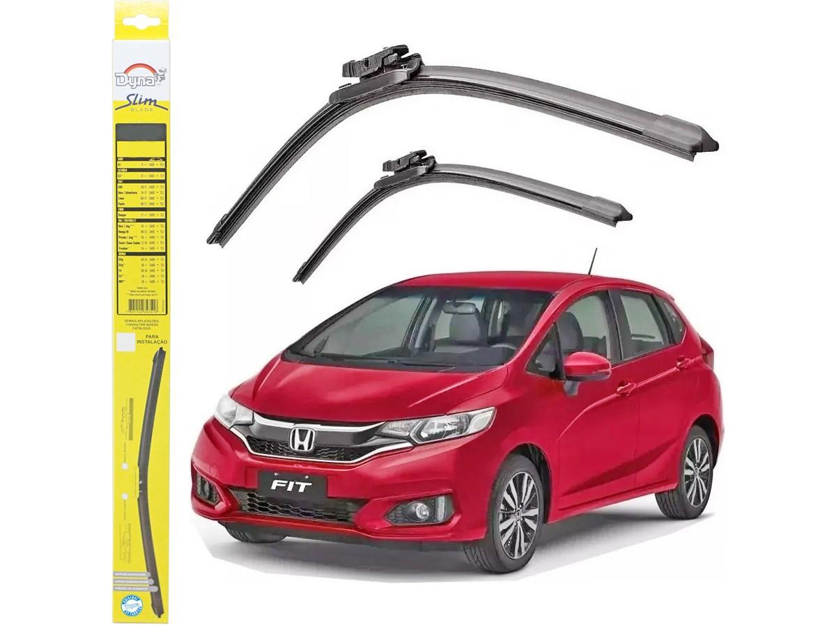 Par de Palheta Limpador Para-brisa Dyna Honda Fit 2018 2019  - EvolutionStore - Peças e Acessórios Automotivos