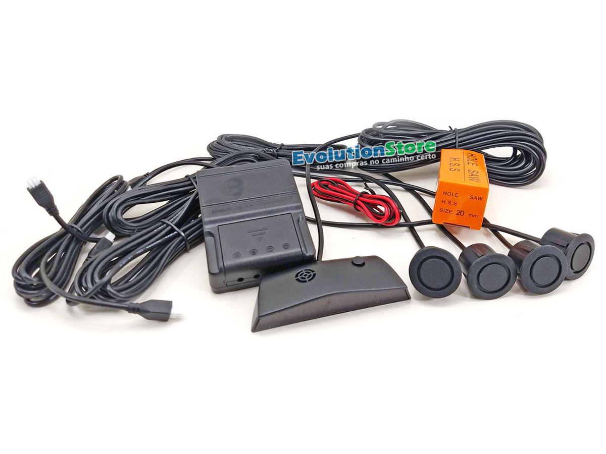 Sensor De Ré Estacionamento Emborrachado Para-choque De Ferro  - EvolutionStore - Peças e Acessórios Automotivos