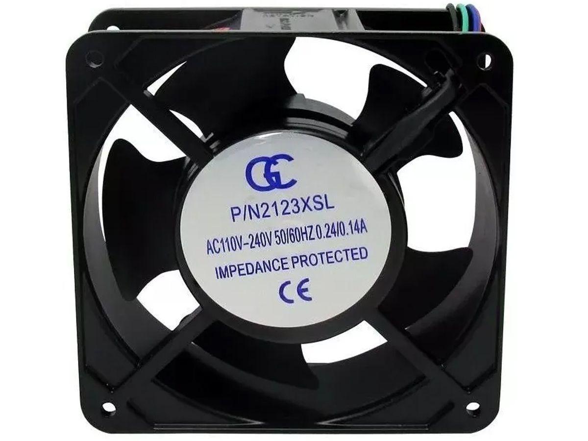 Ventilador Cooler Ventoinha Gc Metálico 120x120x38 110v 220v  - EvolutionStore - Peças e Acessórios Automotivos