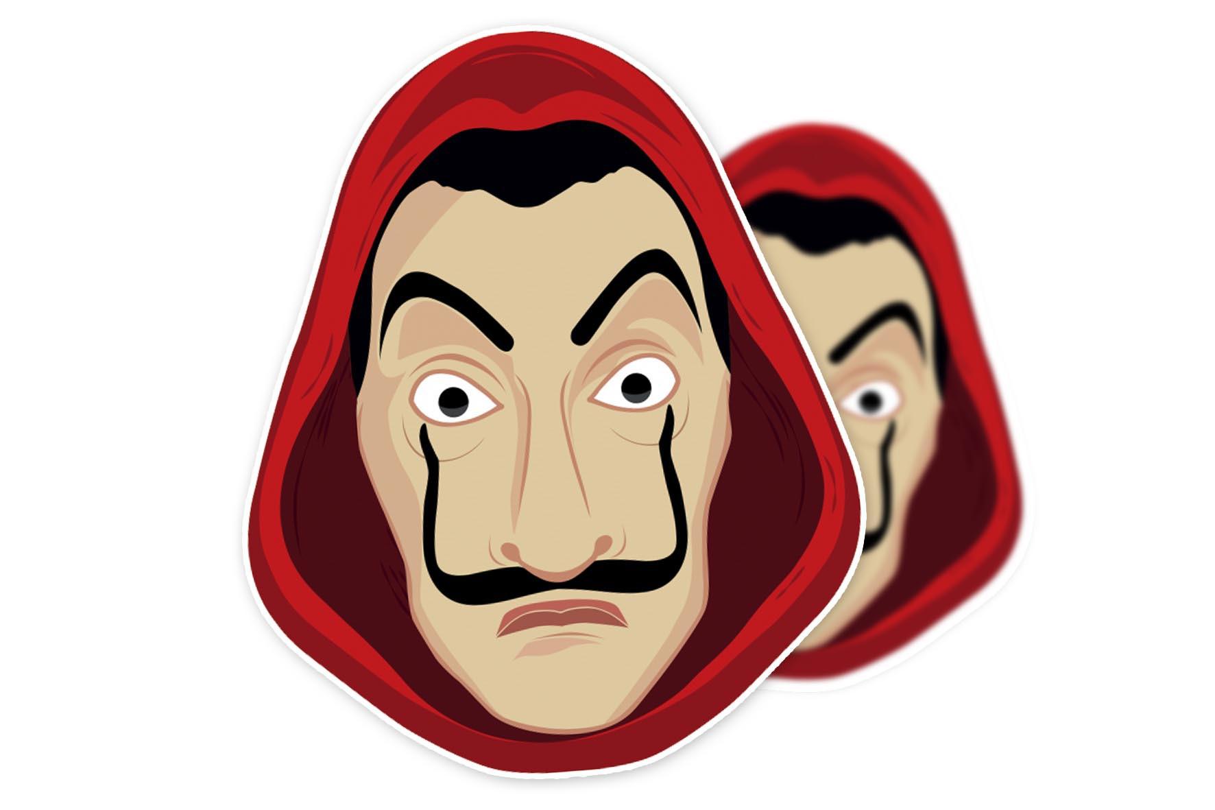 Adesivo Máscara Dali La Casa de Papel