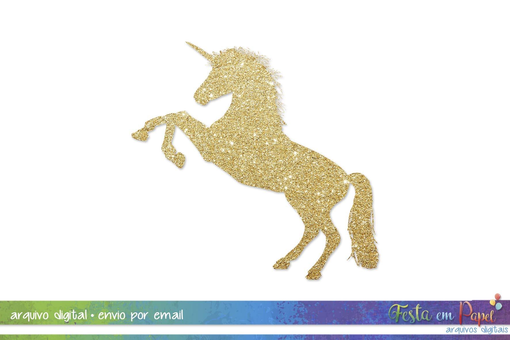 Clipart Unicórnio Glitter