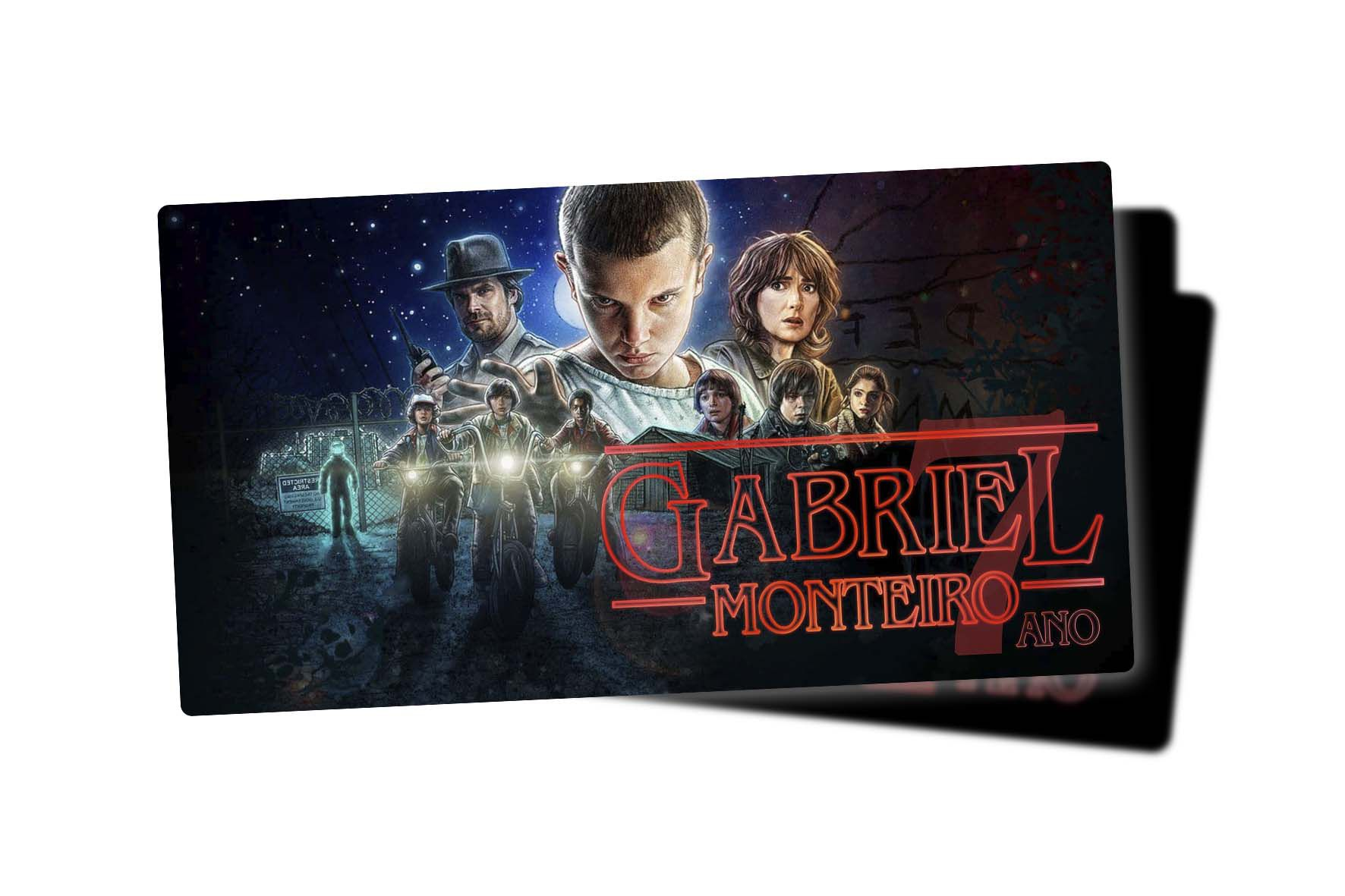 Etiqueta Escolar Stranger Things