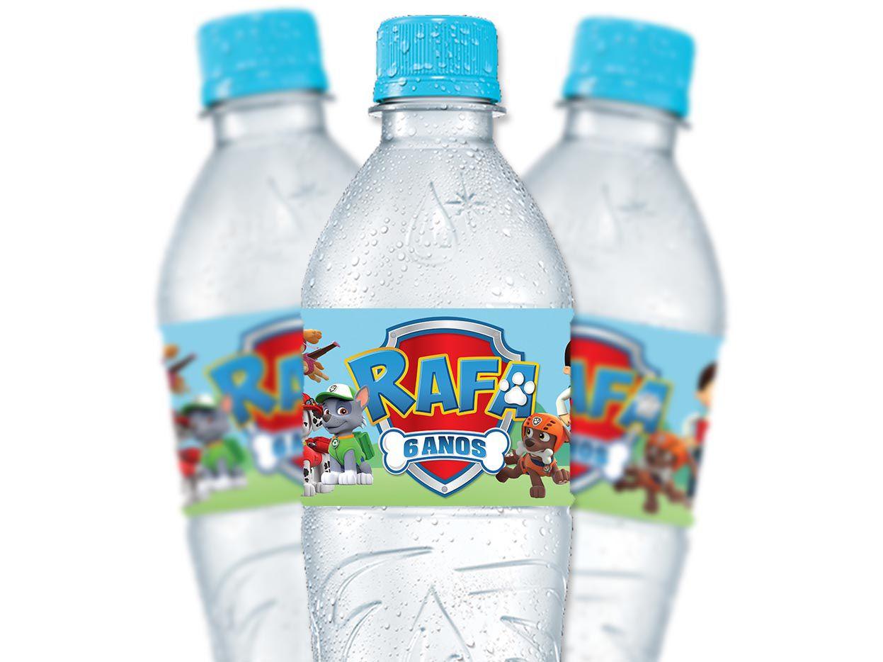 Rótulo Água 300 ml Patrulha Canina