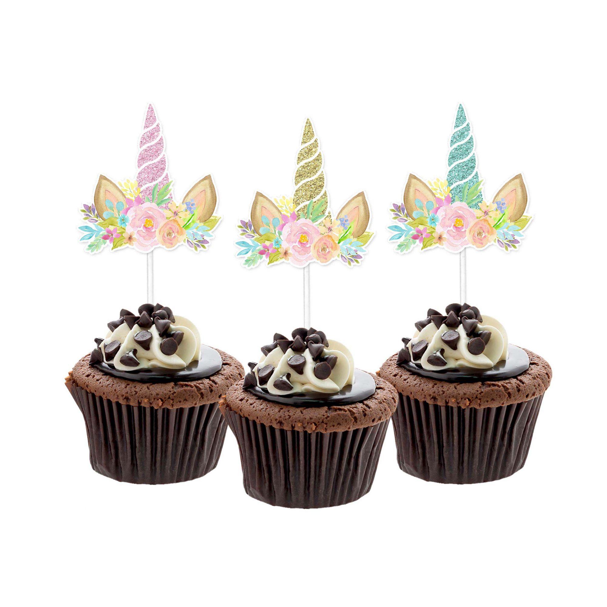 Topper Chifre Unicórnio Cupcake