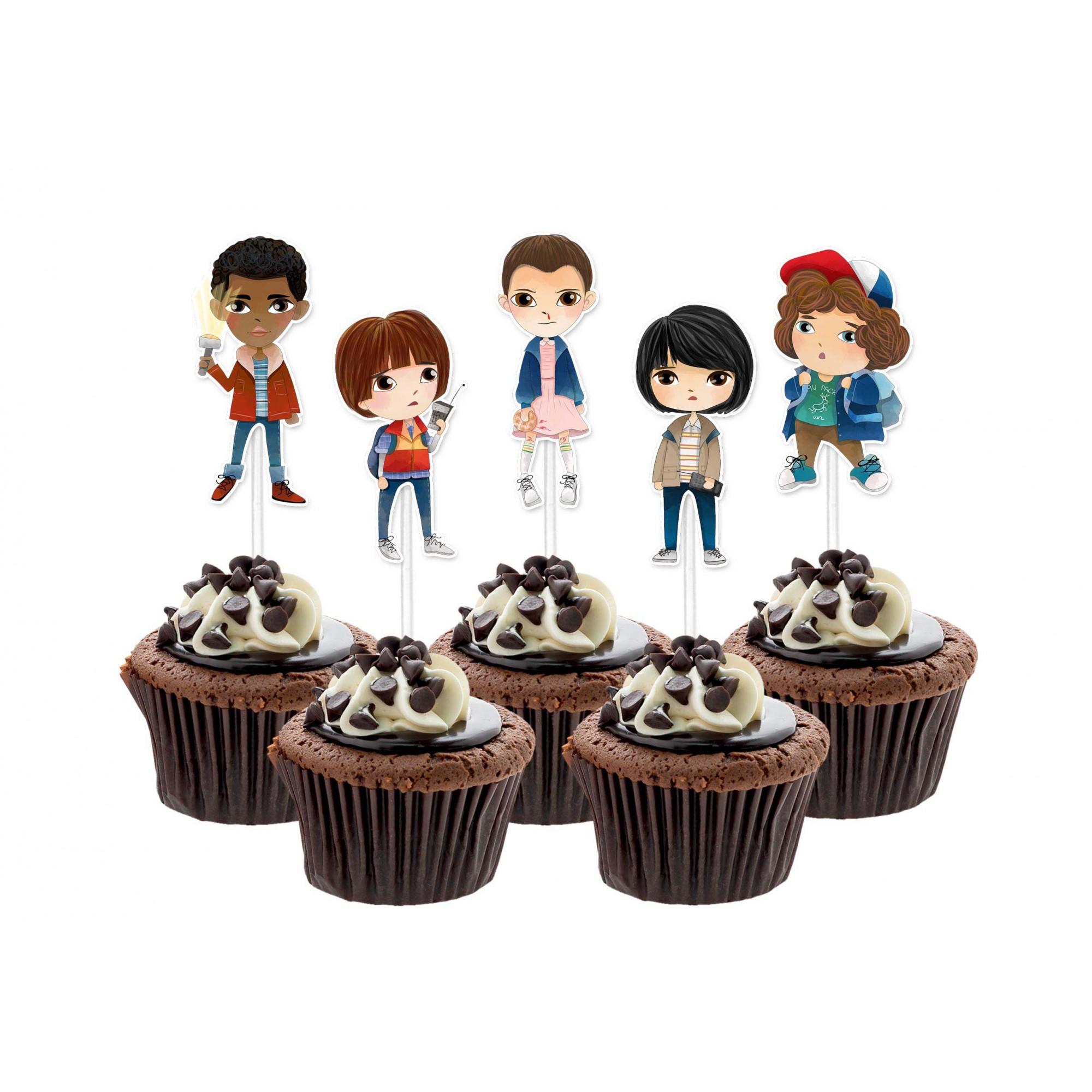 Topper Stranger Things Cupcake