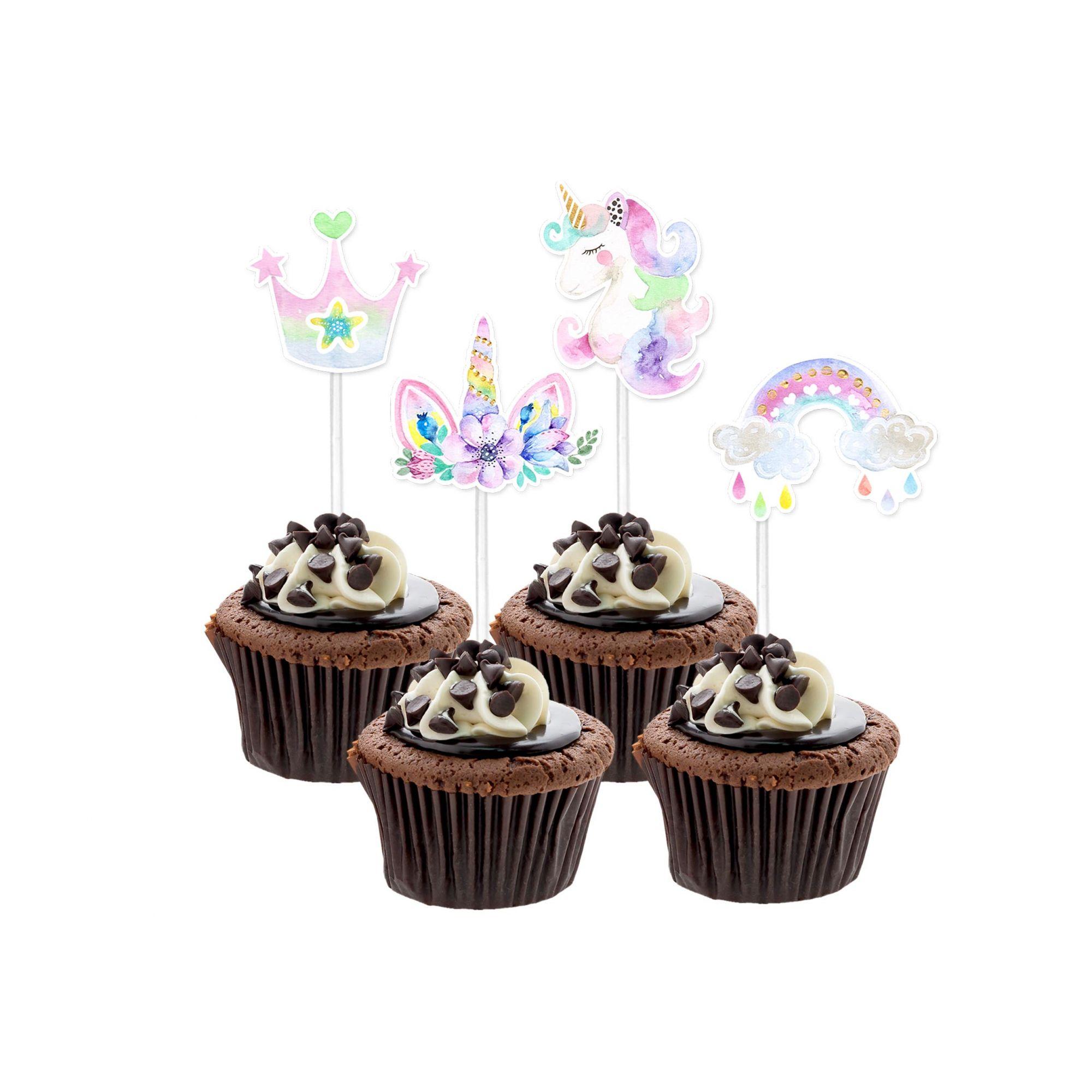 Topper Unicórnio Cupcake