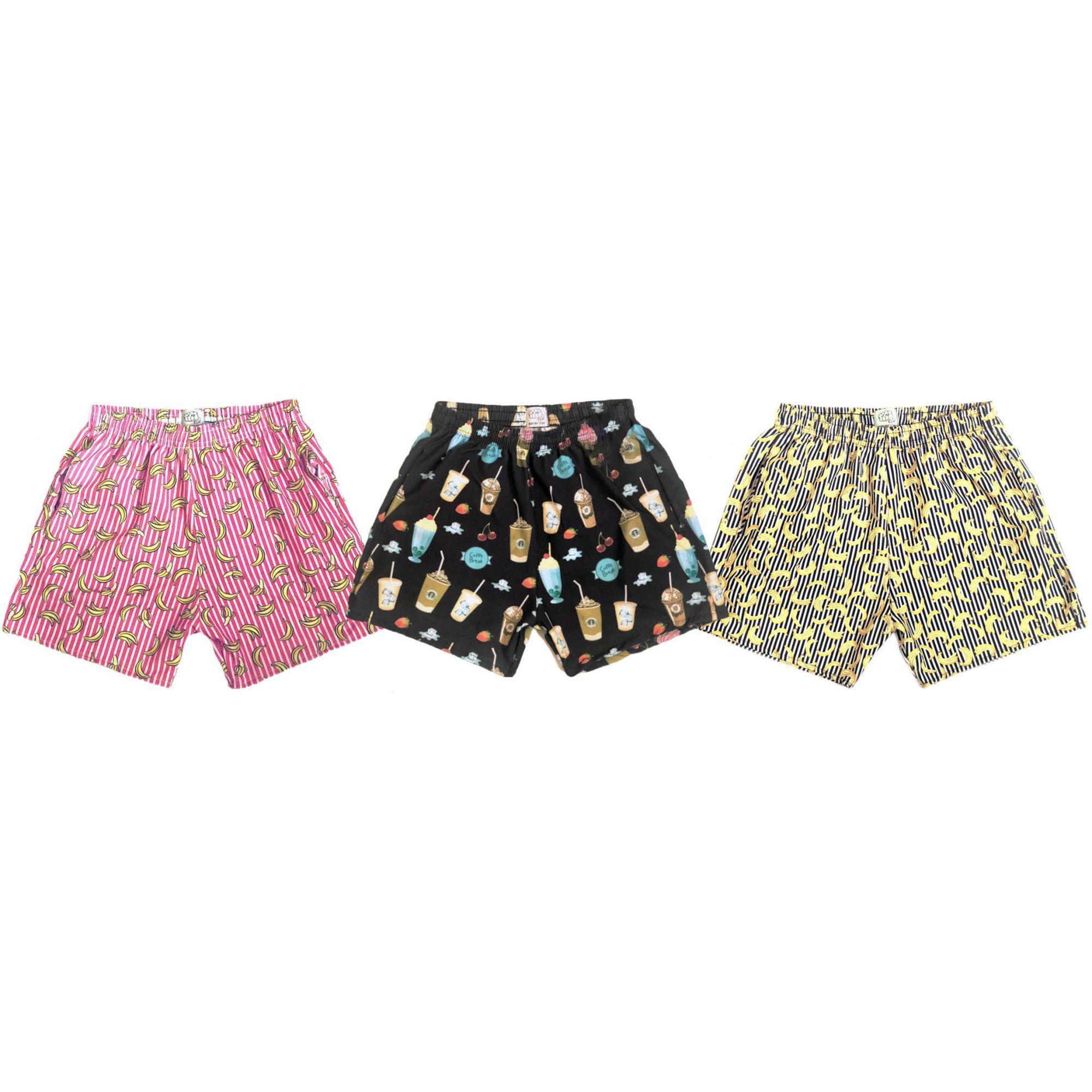 ff45b5f9d Kit 3 Shorts Masculino Praia Tactel C  Elastano Estampado Marca J10 -  Frent´s