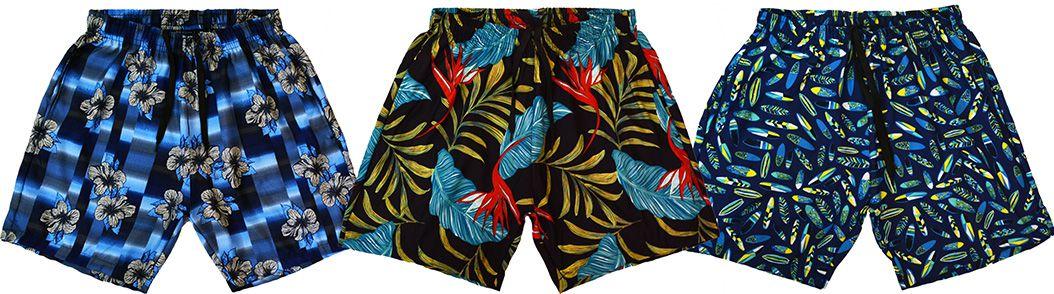 9e4e154213 Kit 3 Shorts Masculino Praia Microfibra Estampado Ref.386A.11 - Frent´s
