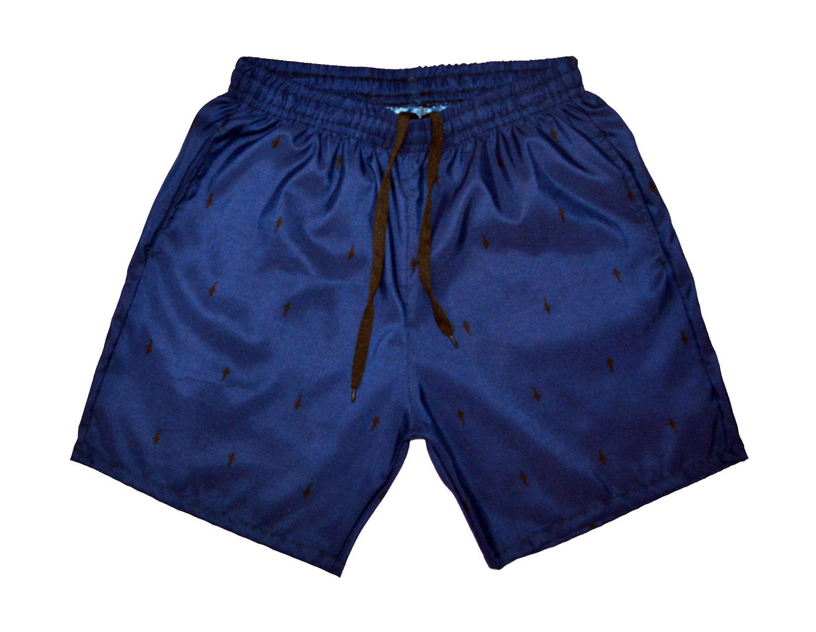 ff40e2f69d Shorts Masculino Praia Microfibra Estampado C  Bolsos Laterais Ref.386 -  Frent´s