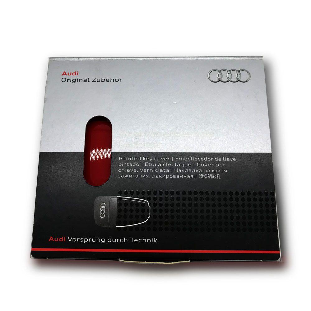 Capa de Chave Metálica Audi Vermelha
