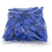 1000 Capa De Borracha Cor Azul P/ Rj45 Cat5 E Cat6