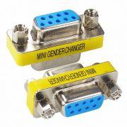 Adaptador Emenda Serial Db9 Femea X Femea 9 Pinos Rs232
