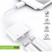 ADAPTADOR EXTENSOR LIGHTNING DE AUDIO E CARREGAMENTO PARA IPHONE 7/7S/8/8PLUS/X 2EM1