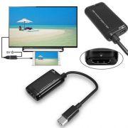 BY-V62 ADAPTADOR TIPO C PARA HDMI FEMEA COM AUDIO PARA SAMSUNG S9 S8 NOTE 8 E MACBOOK