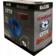 CABO CFTV AZUL 305 METROS 4 PARES 24 AWG STANDART EVUS