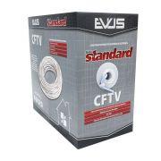 CABO CFTV BRANCO 305 METROS 4 PARES 24 AWG STANDART EVUS