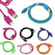 Cabo De Dados Celular Usb V8 corda Para Samsung Motorola Nokia Lg Sony Colors