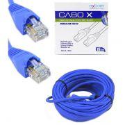 Cabo de Rede Patch Cord 15 Metros CAT5E Azul Exbom CBX-N5C150