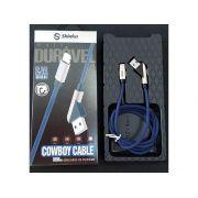 CABO USB DE TECIDO TYPE C 45 GRAUS 1M COWBOY SH-CB-S4-C COWBOY