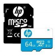 CARTAO DE MEMORIA CLASS10 MICRO SDXC 64 GB C/ADAPTADOR HFUD064-1U1BA HP@