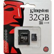 Cartão De Memória Micro Sd Kingston 32gb Classe 4 +adaptador