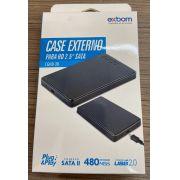 CASE EXTERNA PARA HD 2.5 SATA II USB 2.0 BUSSINES PRETO GAVETA HD 03312 EXBOM CGHD-20