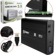 Case Gaveta Externa Hd 3.5 Sata Hd Pc 3.5 Usb 3.0
