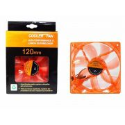 Cooler Fan 4 Led Laranja 12cm 120mm Gabinete Vent Dx-12llr