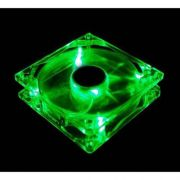 Cooler Fan Led Verde 12cm 120x120x25 120mm Green Led 2 Plugs