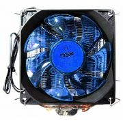 Cooler Universal CPU Led Azul Intel Amd Fan 1150 am3 fm DX-9000