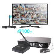 EXTENSOR HDMI SEM FIO TRANSMISSOR DE VIDEO 5.8 GHZ 100 METROS KIT RECEPTOR E TRANSMISSOR
