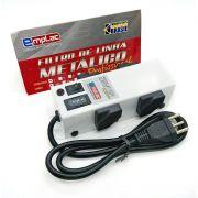 FILTRO DE LINHA PROFISSIONAL METALICO 4 TOMADAS 1m F50094 EMPLAC