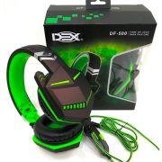 FONE DE OUVIDO HEADSET PRETO/VERDE DEX DF-500 para PS4 E XBOX ONE P3