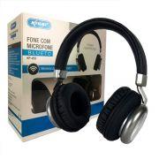 Fone De Ouvido Preto Bluetooth P2 Micro Sd Fm Knup Super Bass KP-452