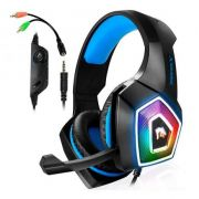 Fone Headset Gamer Azul Para Pc Ps4 Celular Xbox One P2 Led Bass  X-Soldado GH-X2000 com plugue P2 03234