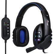 Fone Headset Gamer Usb Led Microfone Kp-359 Knup azul