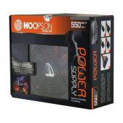 FONTE 550W RGB HOOPSON