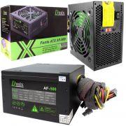 Fonte Atx Gamer 500w Com Cooler 120mm Bivolt dmix AF-500