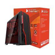 Gabinete Gamer Atx Bluecase Bg-009 Black USB 3.0 Sem Coooler