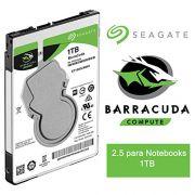 HD SATA 1TB P/ NOTEBOOK SEAGATE BARRACUDA