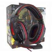 Head Set Gamer Dex DF-90 Retro Iluminação Vermelho