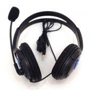 Headset Fone De Ouvido Ps4 Playstation 4 Jogos Online Skype DF-400