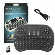 I8 MINI TECLADO COM TOUCHPAD WIRELESS 2.4 BATERIA DE LITIO