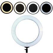Iluminador ring ligth de LED 18 polegadas com 49cm diâmetro para foto e vídeo controle de cor 3500k a 5500k 240 LEDS JR-