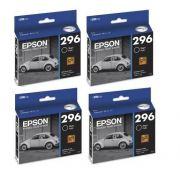 Kit 4 Cartuchos PRETOS Epson Para 296 Xp 231 Xp 431