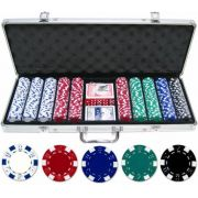 Maleta Poker 500 fichas Oficiais S/numeração Kit Completo Pk5